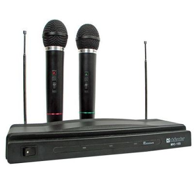 Набор беспроводных микрофонов MIC-155 черный, радио 87-92 МГц