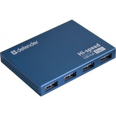 Универсальный USB разветвитель Septima Slim USB2.0, 7портов,блок питания2A