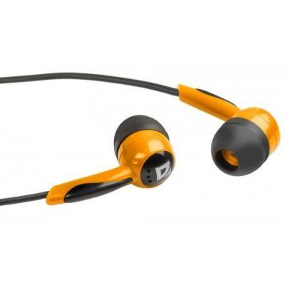 Наушники вставки Basic 604 черный + оранжевый