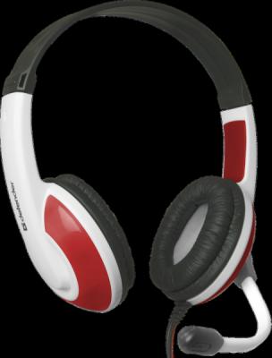 Игровая гарнитура Warhead G-120 красный + белый, кабель 2 м