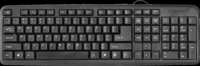 НОВИНКА. Проводная клавиатура HB-420 RU,черный,полноразмерная