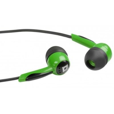 Наушники вставки Basic 604 черный + зеленый