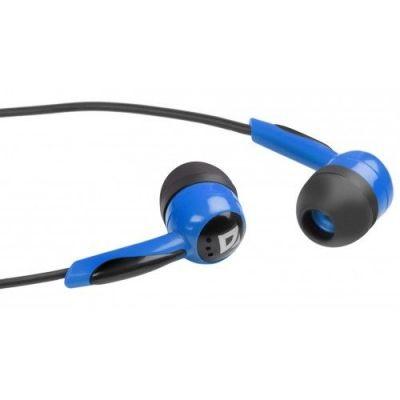 Наушники вставки Basic 604 черный + голубой