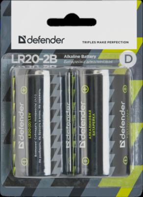 Батарейка алкалиновая LR20-2B D, в блистере 2 шт