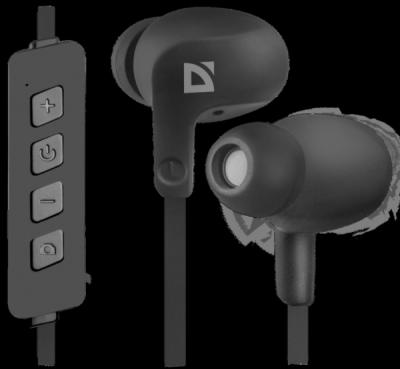 Беспроводная гарнитура FreeMotion B615 черный, вставки, Bluetooth
