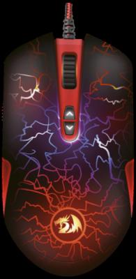 Проводная игровая мышь LavaWolf оптика,8 кнопок,100-3500dpi