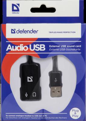 Внешняя USB звуковая карта Audio USB USB - 2х3,5 мм jack, 0.1 м