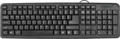 Проводная клавиатура HB-420 RU,черный,полноразмерная