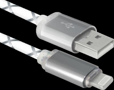 НОВИНКА. USB кабель ACH03-03LT cерый, LED, USB-Lightning, 1м